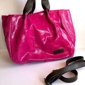 MARNI fuchsia snakeskin luxury hobo purse EUC